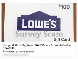 balance lowes gift card scams