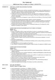 Computer Systems Engineer Resume Samples Velvet Jobs