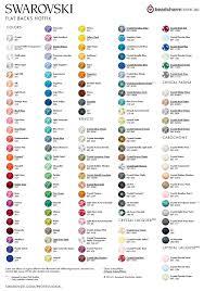 Swarovski Hotfix Colour Chart
