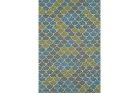 blue outdoor rug 5x7 8 x 10 grey and green scales living spaces decorating charming