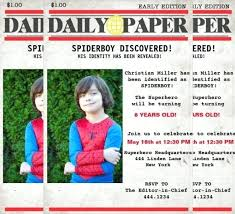Custom Newspaper Template Custom Girls Superhero Newspaper Birthday Invitation Printable
