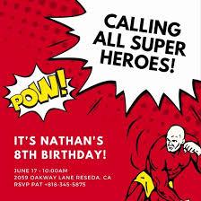 Personalized Superhero Birthday Invitations 10 Lovely Superhero Birthday Invitations Templates Free