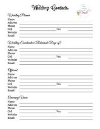 The Wedding Planner Gifts Checklist Helps You Keep Track Of Which ...