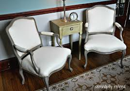 fabric paint for furnitureSerendipity Refined Blog French Style Side Chair Makeover Chalk