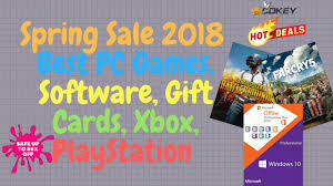 Spring Sale 2018 Best Pc Games Software Gift Cards Xbox