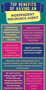 As subjects and prerequisites can vary. Top Benefits Of Having Independent Insurance Agent Info Graphic Independent Insurance Life Insurance Marketing Ideas Life Insurance Marketing