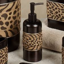 Brown Bathroom Accessories Cheshire Animal Print Bath Accessories