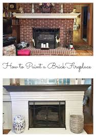 painted white brick fireplacehow to paint a brick fireplace