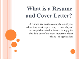 What Goes In A Resume Cover Letter Importance Of Resume And Cover Letter