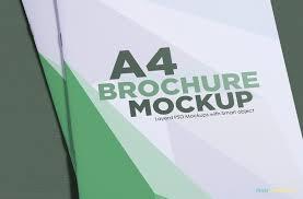 A4 Brochure Mockup Free Psd Download Zippypixels
