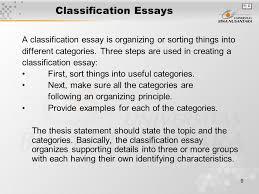 matakuliah g writing iv tahun versi v rev  classification essays