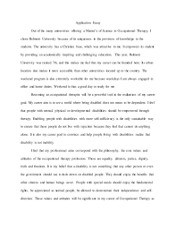 Example Of Application Essays Application Essay Example
