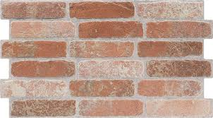 traditional red brick slip effect tiles