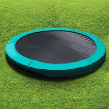 action 10ft in ground trampoline s002042 on grass