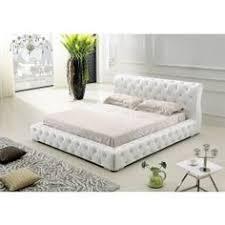 modrest bl9041 modern white leatherette w crystals bed