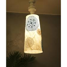 Acrylic Crochet Wood Hanging Lamp Sunshine Boulevard