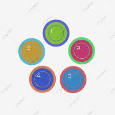 Five Round Color Catalog Illustrations Catalog Chart