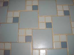 blue and white bathroom floor tile