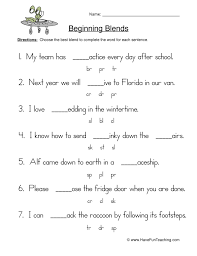 Initial Blends Worksheet Free Worksheets Library | Download and ...