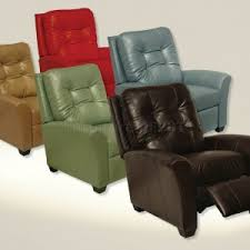 modern leather recliner chair. Gorgeous Modern Recliner Chair With Blue Color And Green Also Red For Home Leather