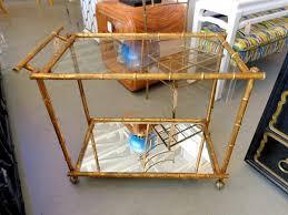 bamboo bar cart. Gold Faux Bamboo Bar Cart D