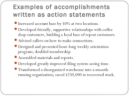 resume action statements - Sample Resume Of Waitress