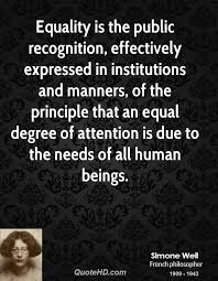 Equality Quotes Awesome Simone Weil Equality Quotes QuoteHD