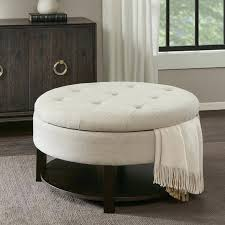 oval leather ottoman intended for property remodel storage ottoman furniture