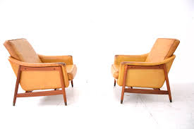 1960s teak armchair tan leather danish home