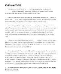 Lease Agreement Example Simple Lease Agreement 1 Page New Rental Templates Free
