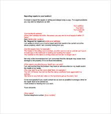 notice to tenant to make repairs templates complaint letter to landlord 8 free word pdf documents download