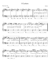 These pieces have been selected as ideal tunes for first time players. Why Don T We 8 Letters Sheet Music For Piano Solo Musescore Com