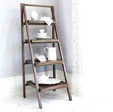 step ladder shelves living diy shelf white bookcase leaning bo