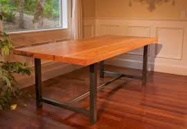 wonderful cream dining room art design about steel table legs redefining pertaining to wood table with metal legs attractive