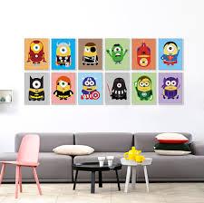 Artwork For Kids Rooms Minions Font B Superheros B Font Avengers Batman  Funny Pop Anime Movie ...