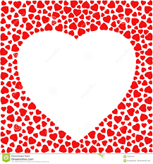 Small Card Template Border With Red Hearts Greeting Card Design Template Decorated With
