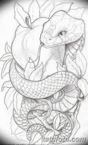 тату змея эскизы мужские 09032019 033 Tattoo Sketches