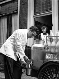 milkman dutch milkman in haarlem 1956