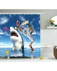 shark shower curtain shower curtain marine navy fish sharks print for bathroom shark shower curtain uk