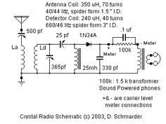simplest detector radio circuit diagram crystal radio 2 dave s homemade dx crystal radio schematic