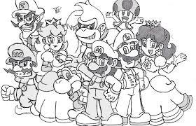 Tutti I Personaggi Di Super Mario Stampali E Colorali Adesso