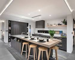 asian kitchen design. Asian L-shaped Eat-in Kitchen In Perth With An Undermount Sink, Flat Design