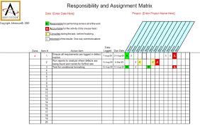 Raci Chart Template Excel Simplified Raci Chart