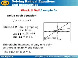 example 3a solve each equation method 2 use a graphing calculator