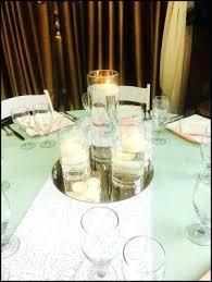 round mirrors centerpieces round reception tables