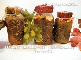 Fall Table Decorations With Mason Jars Altered Bottles Fall Table Decoration Tutorial YouTube 90