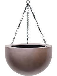 <b>Кашпо</b> подвесное <b>Gradient</b> bowl matt coffee D38 H24 см ...