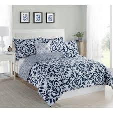 studio 17 anson damask navy white 5 piece full queen comforter set
