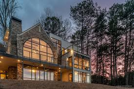 rustic modern residential architecture. Brilliant Residential Rustic Modern Lakehouseback Exteriorjpg In Residential Architecture C