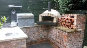 outdoor kitchen with pizza oven outdoor kitchen with rendered pizza oven outdoor kitchen wood fired pizza